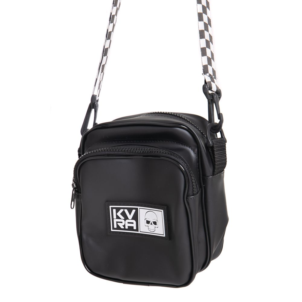 SHOULDER-BAG-PRETA-CHECKERBOARD-PRETO-UN